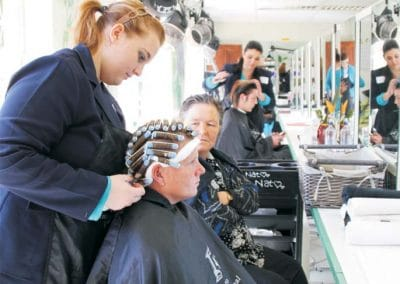 Hydro International College students in hairdressing class